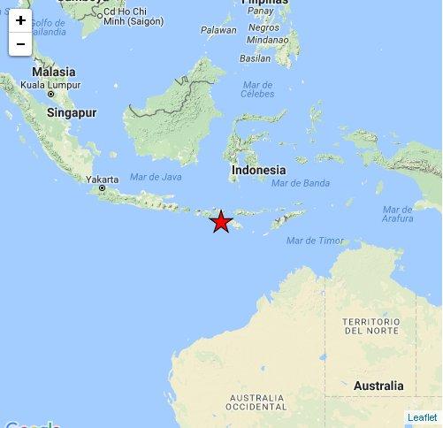 Terremoto M6.2 SUMBAWA Indonesia, nessun allarme tsunami