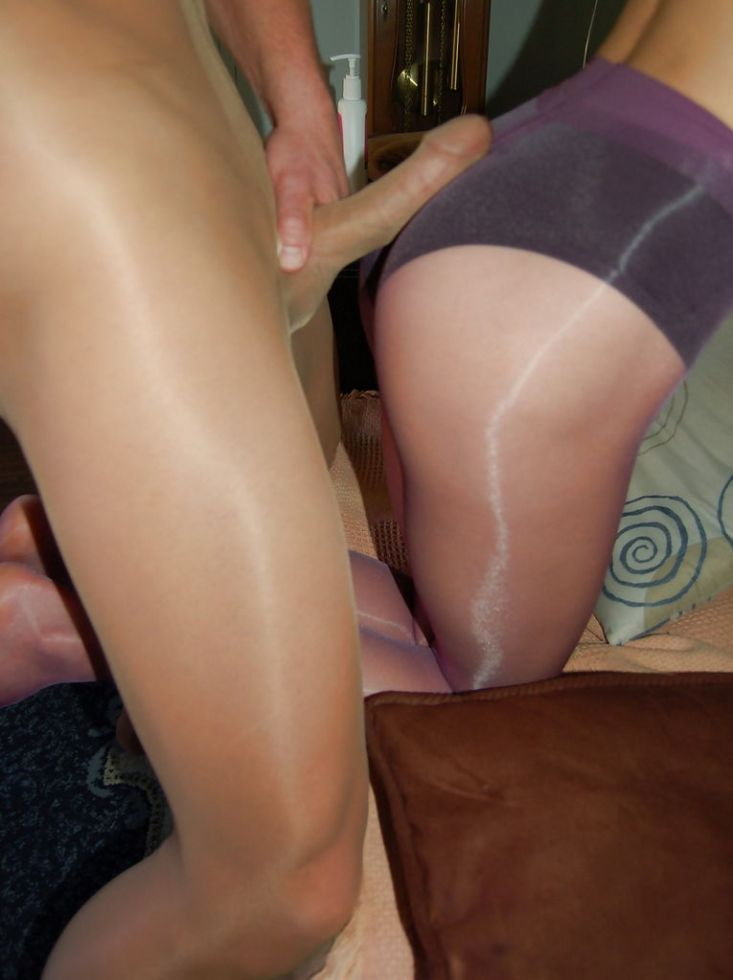 Bikini panties over pantyhose