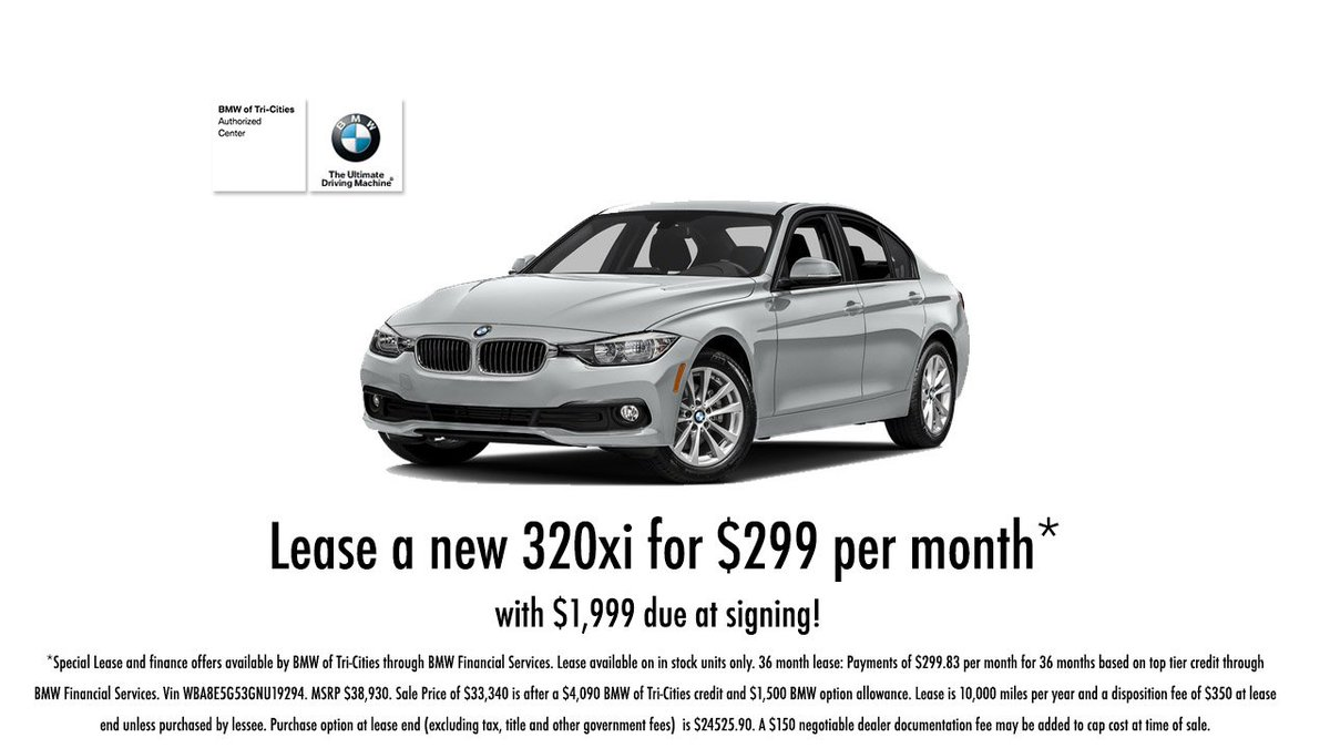 Bmw Tri Cities >> Bmw Tri Cities On Twitter Lease A New Bmw 320xi For 299 Per