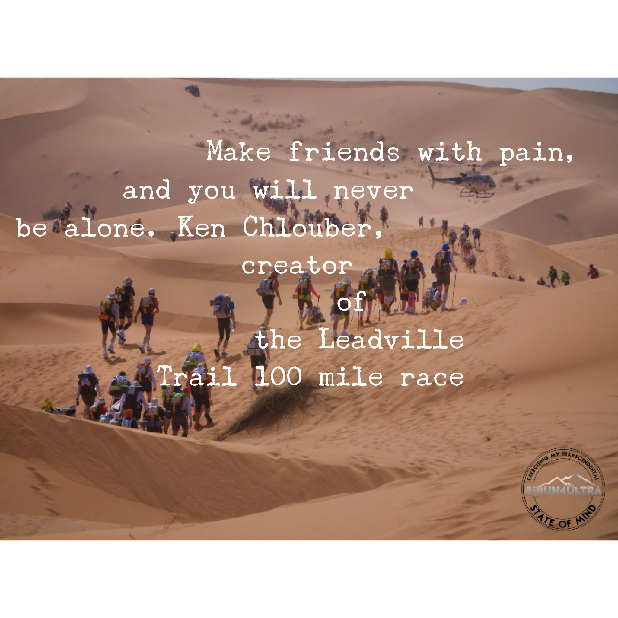 Irun4ultra On Twitter Quote Of The Wk Make Friends With Pain