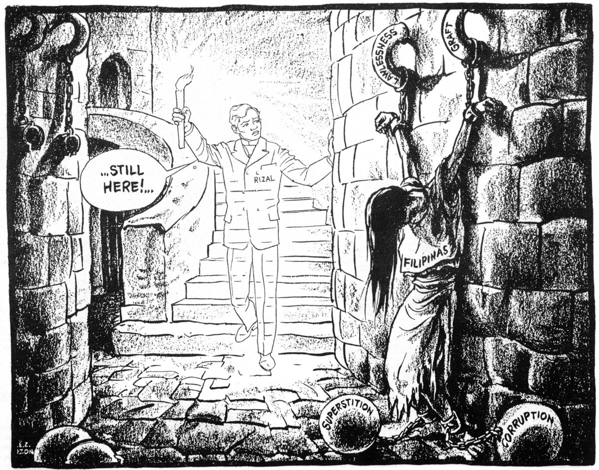 Editorial cartoon by EZ Izon in the Free Press in the 1960s. Worth pondering on Rizal Day. https://t.co/MnOSS57IQE