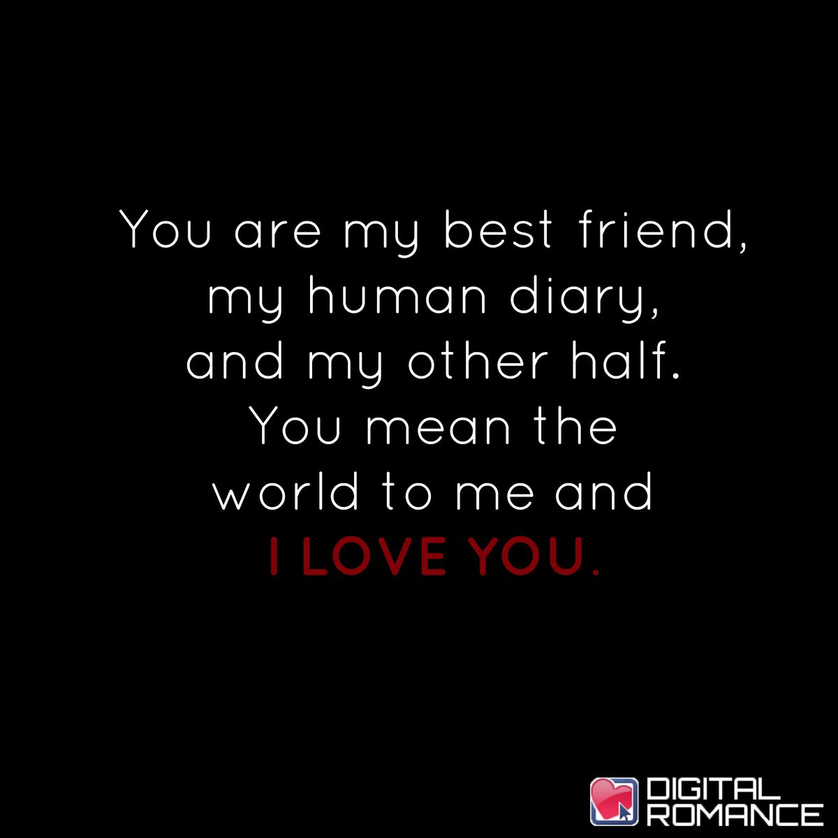 Digital Romance Inc On Twitter You Are My Best Friend My Human