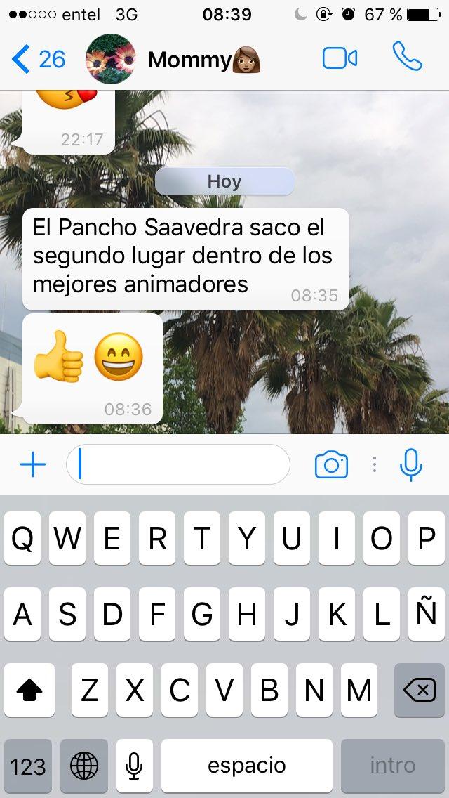 Mientras yo trabajo mi mamá me informa sobre ti @PANCHOSAAVEDRA felicitaciones ❤