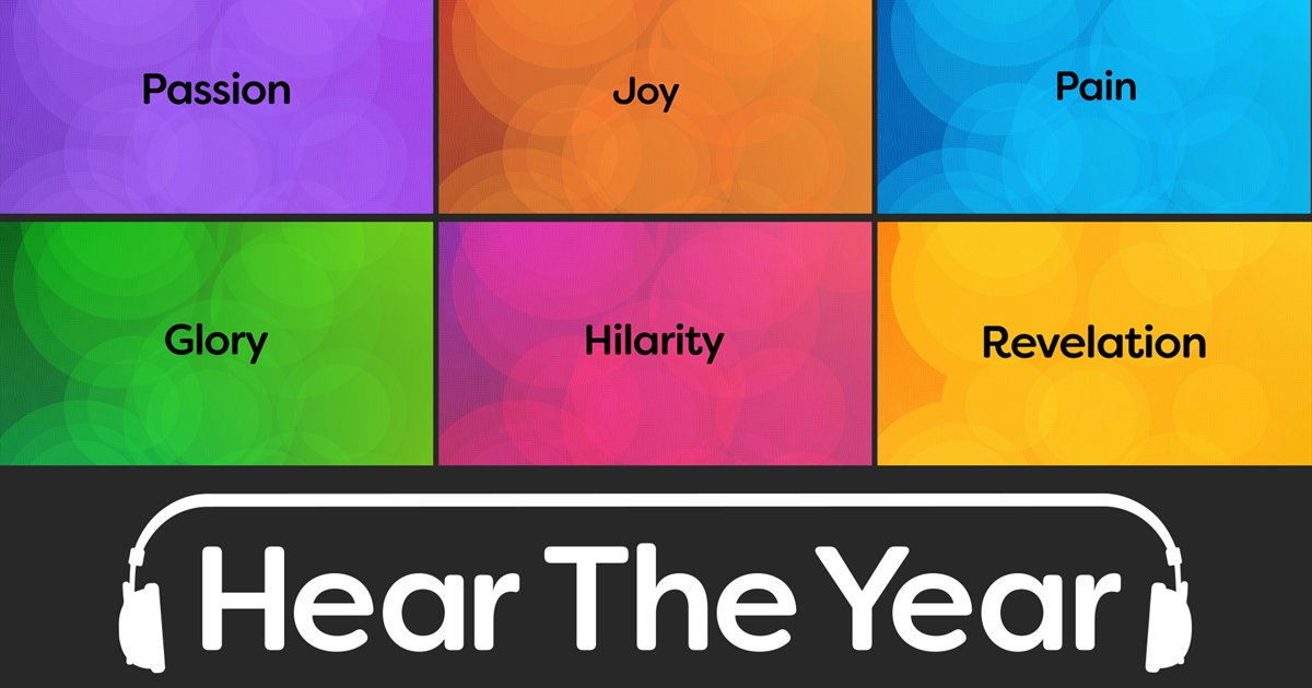 From 😊 to 😢 to 😂 – all the emotions of 2016: captured on radio   👉   #heartheyear 📻