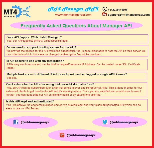MT4 Manager API (@mt4managerapi) | Twitter