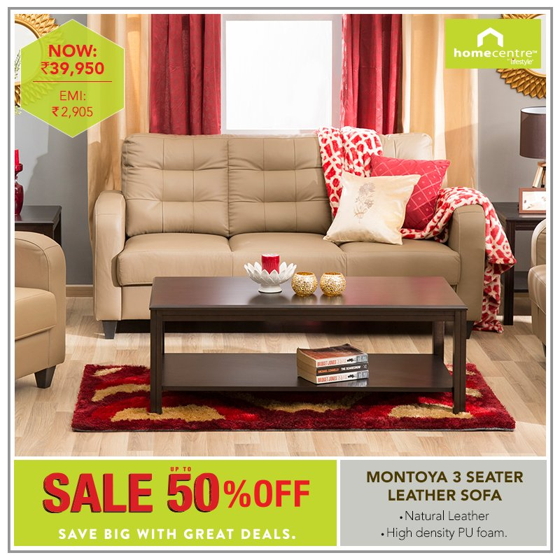 Home Centre India On Twitter The Montoya 3 1 Seater Sofa With