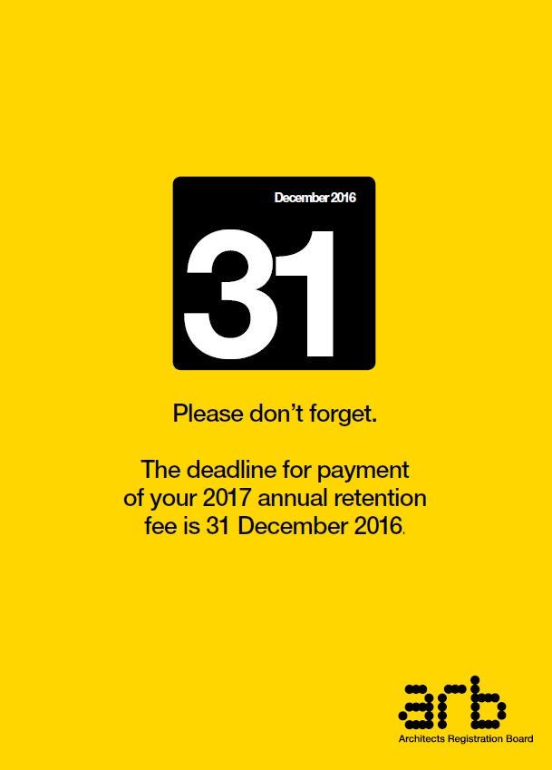 The Retention Fee Is Due 31 December 2016 Please Remember To Pay Http Ow Ly Zite3079qli Pic Twitter K7mxbsiocg