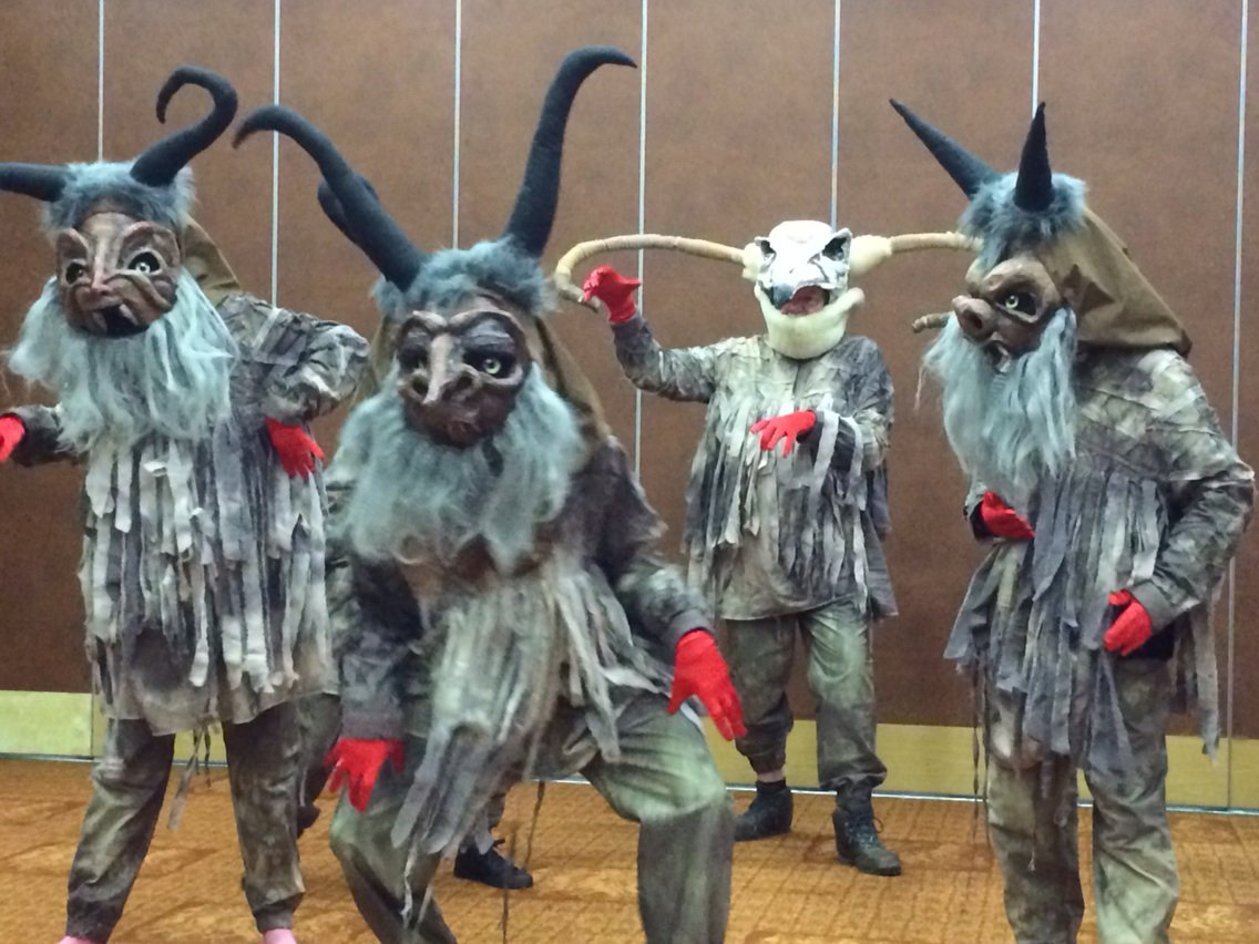 Krampus on the move... Ready for #Newcastle's #Winter #Carnival #Parade on New Year's Eve #wtpbehindthescenes https://t.co/ni6FL7fTOy