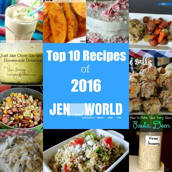 Top 10 Recipes on Jen Around the World