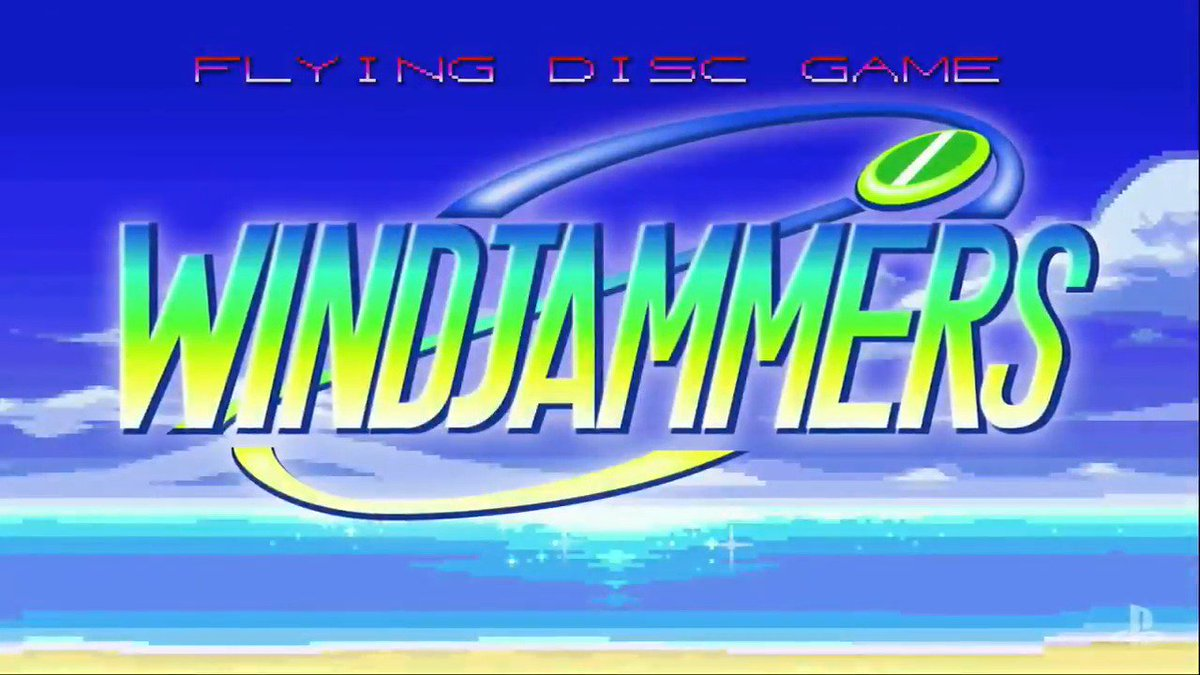 Toss frisbees like nobody's business in Windjammers on PS4 and Vita. #PSX16