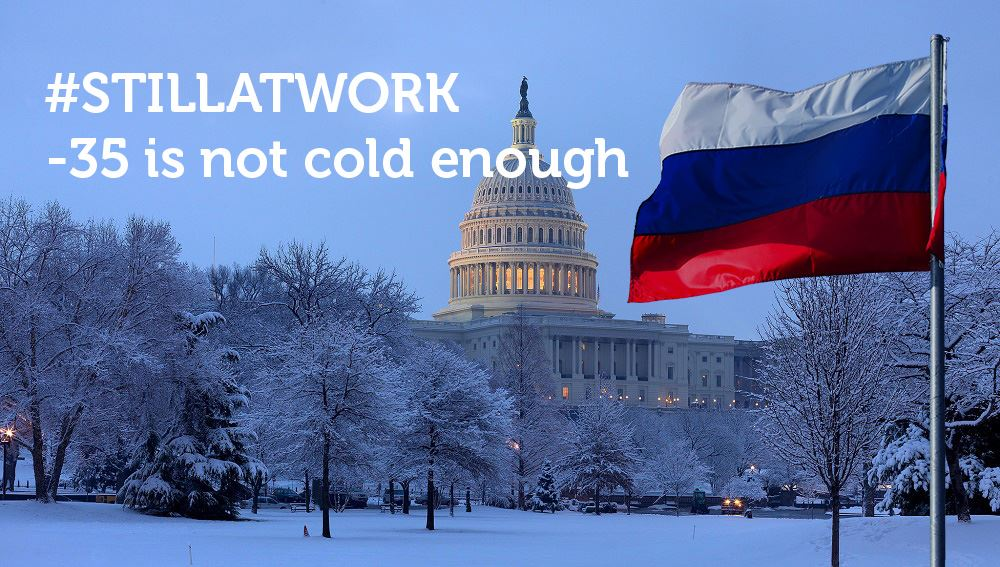 The #US on Thursday expelled 35 Russian diplomats, but we are #STILLATWORK, -35 is not cold enough :) https://t.co/Ehm2H8ESs8
