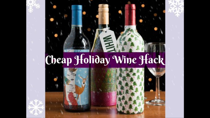 DIY Cheap Wine Bottle Craft for the Ultimate Holiday Gift Hack!