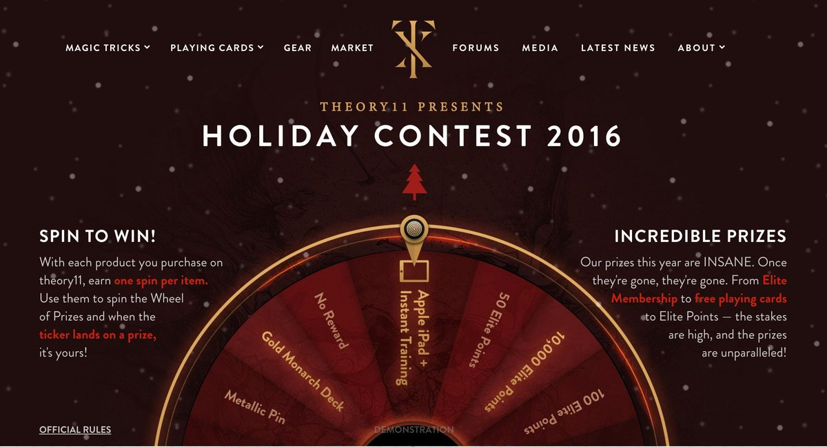 Theory11 holiday contest slot phones in nigeria