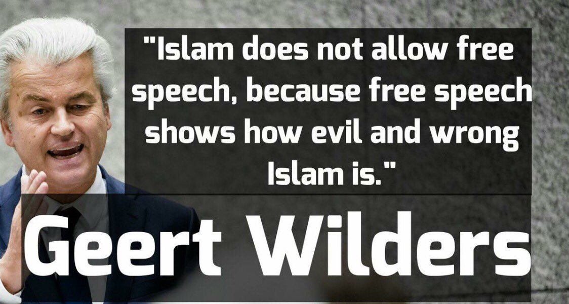 Islam does not allow free speech... @geertwilderspvv   #StemPVV #Europe #MAGA #Trump