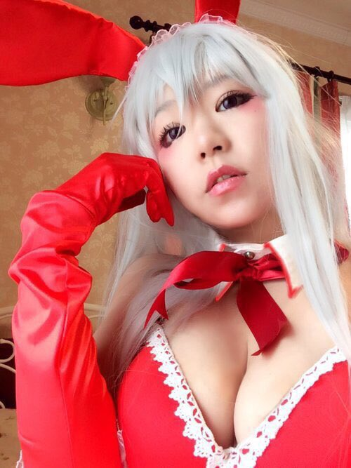 画像,今日は、わくらさん(@wakura081 ) のマギサバニーのコスプレ♡ ゆずちゃん(@yuz__ringo )のナルメアと合わせだよ! #グラブルバニー部 #…
