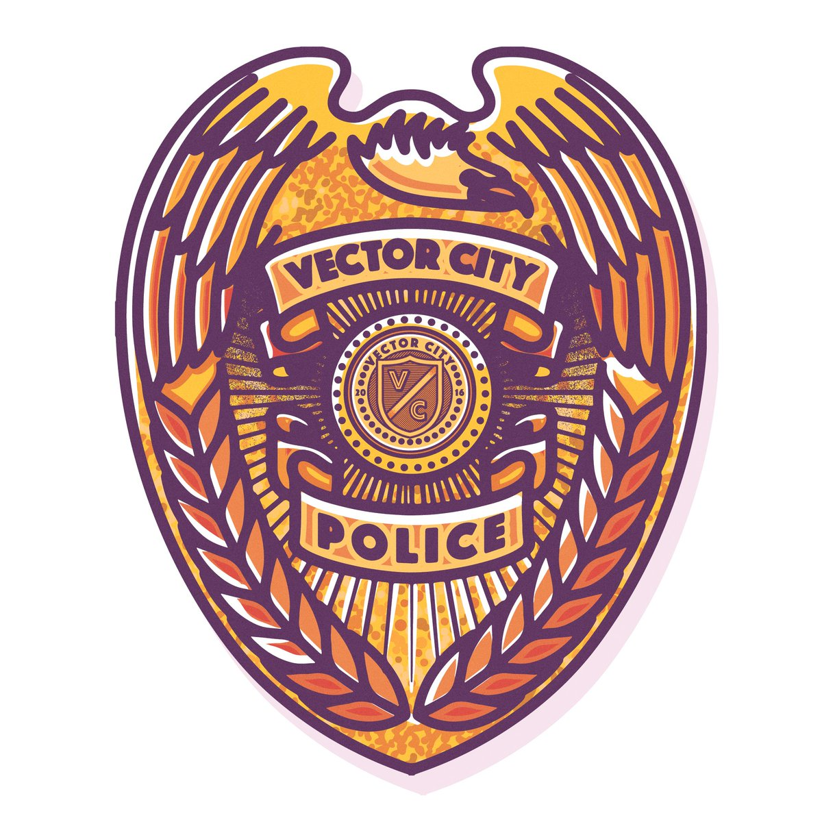 Musketon On Twitter Vector City Police Badge Vector City Is By