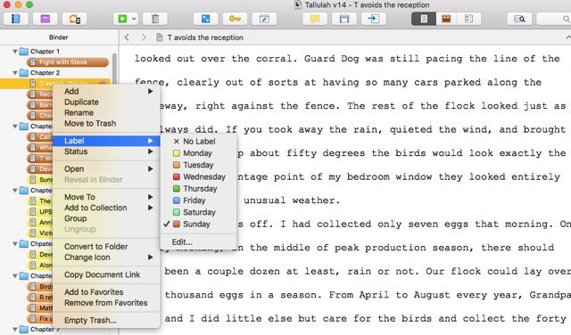 Color Coding Scrivener to Keep Track of Your Story at a Glance