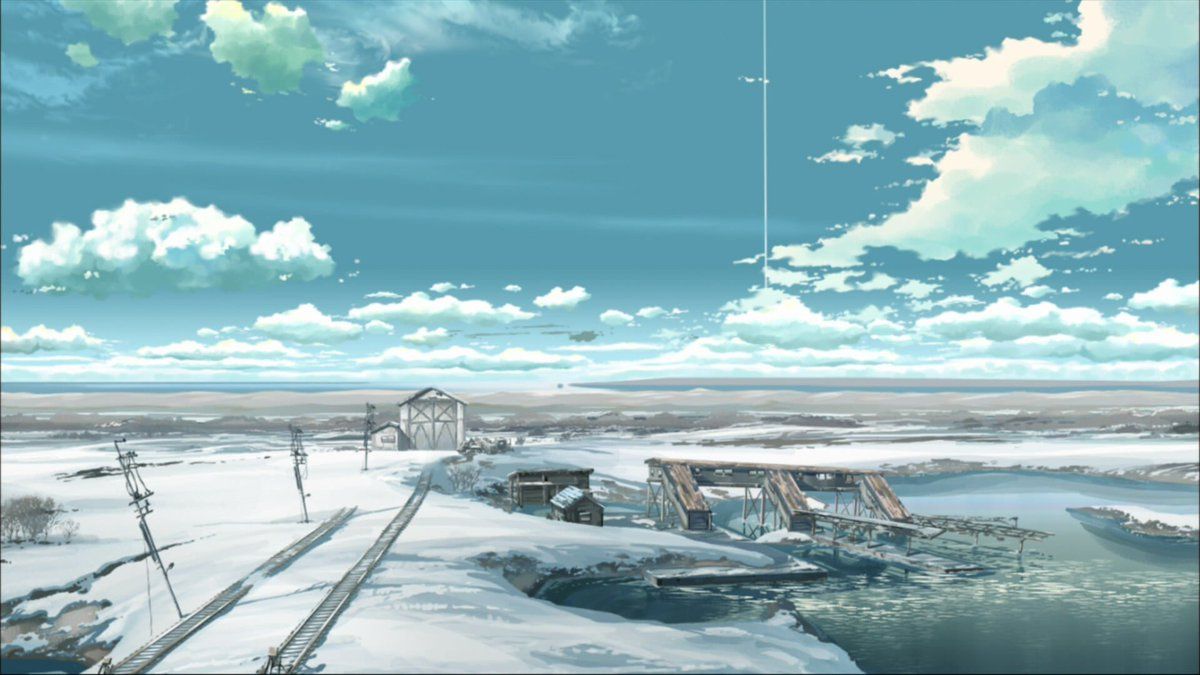 Anime Aesthetics On Twitter Blue Cold Landscapes