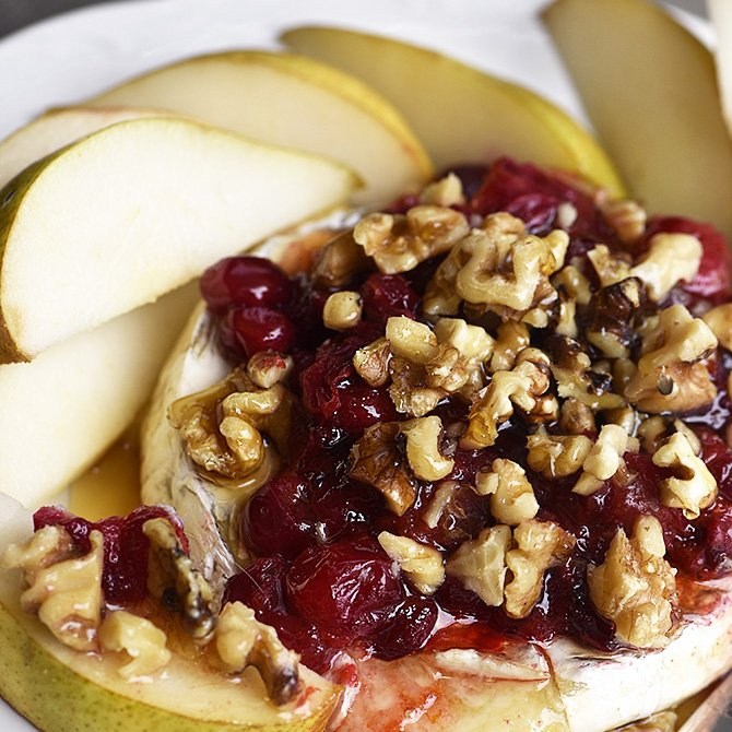 Warm Brie with Honeyed Fruit Compote Recipe
