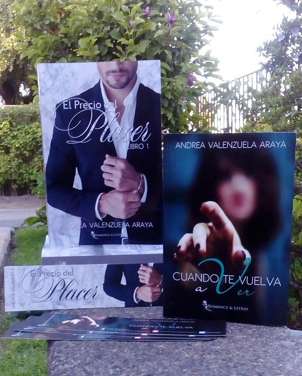 """Andrea Valenzuela A. on Twitter: """"Ejemplares disponibles de """"El Precio del  Placer"""" y """"Cuando te vuelva a ver"""". No te quedes sin el tuyo!! ❤… """""""