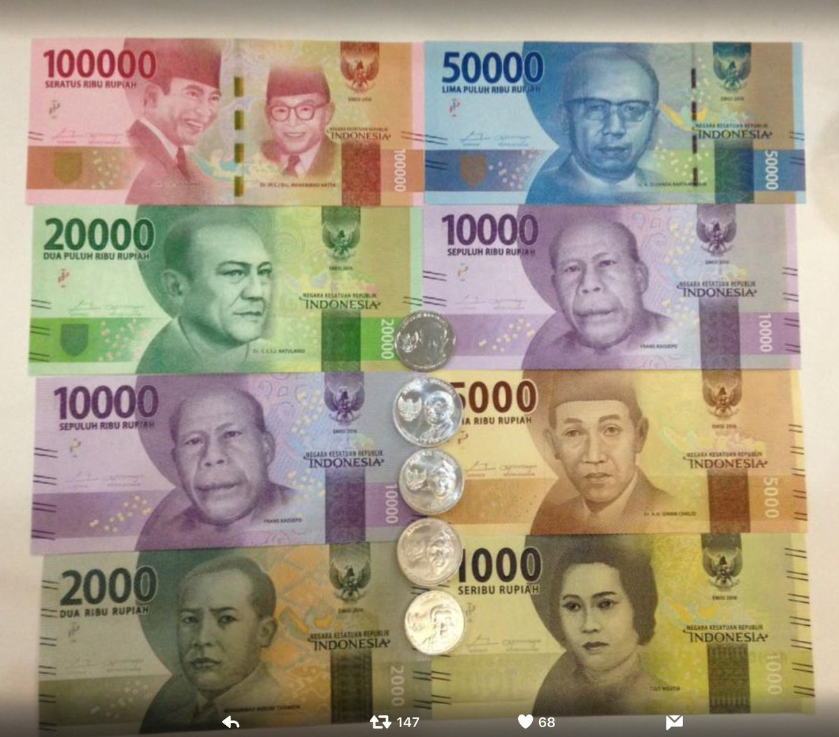 Uangbarusemangatbaru Hashtag On Twitter Cash Pb 20000 1 Reply 0 Retweets Likes