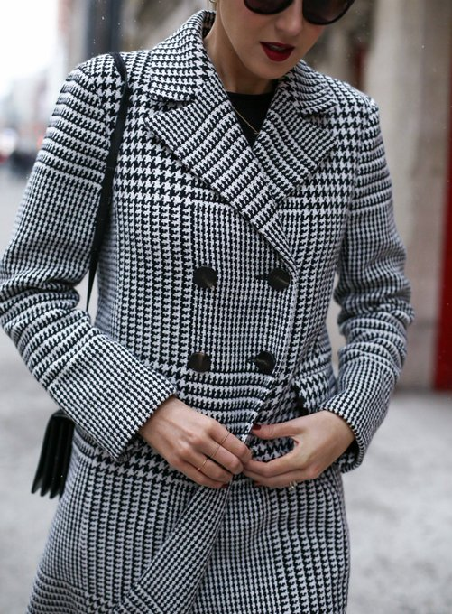 Classic Glen Plaid Coat