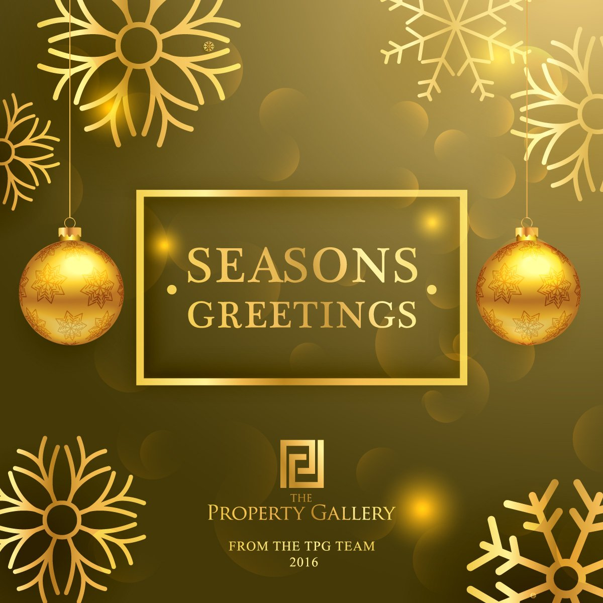 #SeasonsGreetings #HappyHolidays from the TPG Team. Wishing you & your family a joy filled & peaceful #NewYear in 2017 #Property #Australia https://t.co/bZVdp2dBY3
