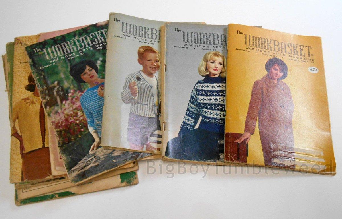 Workbasket twitter search vintage 12 pc 1967 complete year the workbasket craft art magazine quilt crochet pattern bankloansurffo Choice Image