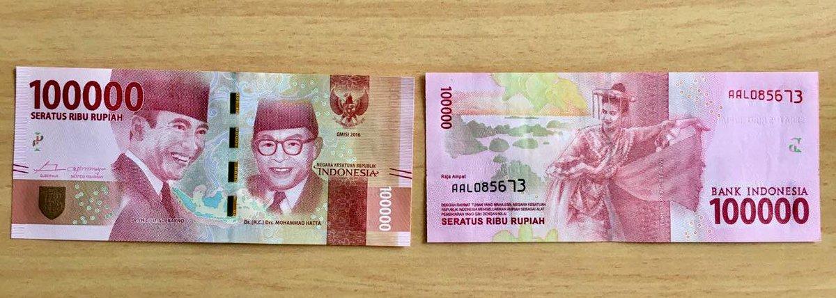 Uang Kertas 100.000 Rupiah - AnekaNews.net