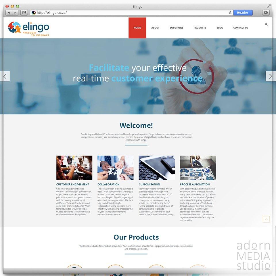 '@ElingoPtyLtd 's new website is up and looking great! Go have a look!  http://www. elingo.co.za      #JoomlaWebsite #AdornMediaStudio<br>http://pic.twitter.com/7gQjnRdhRQ