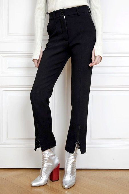 The Cool-Girl Way To Wear Black Pants For New Year's Eve