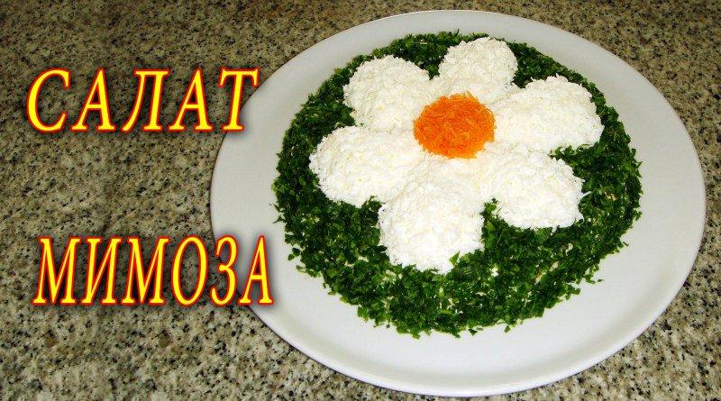 Салат мимоза с фото рецепт