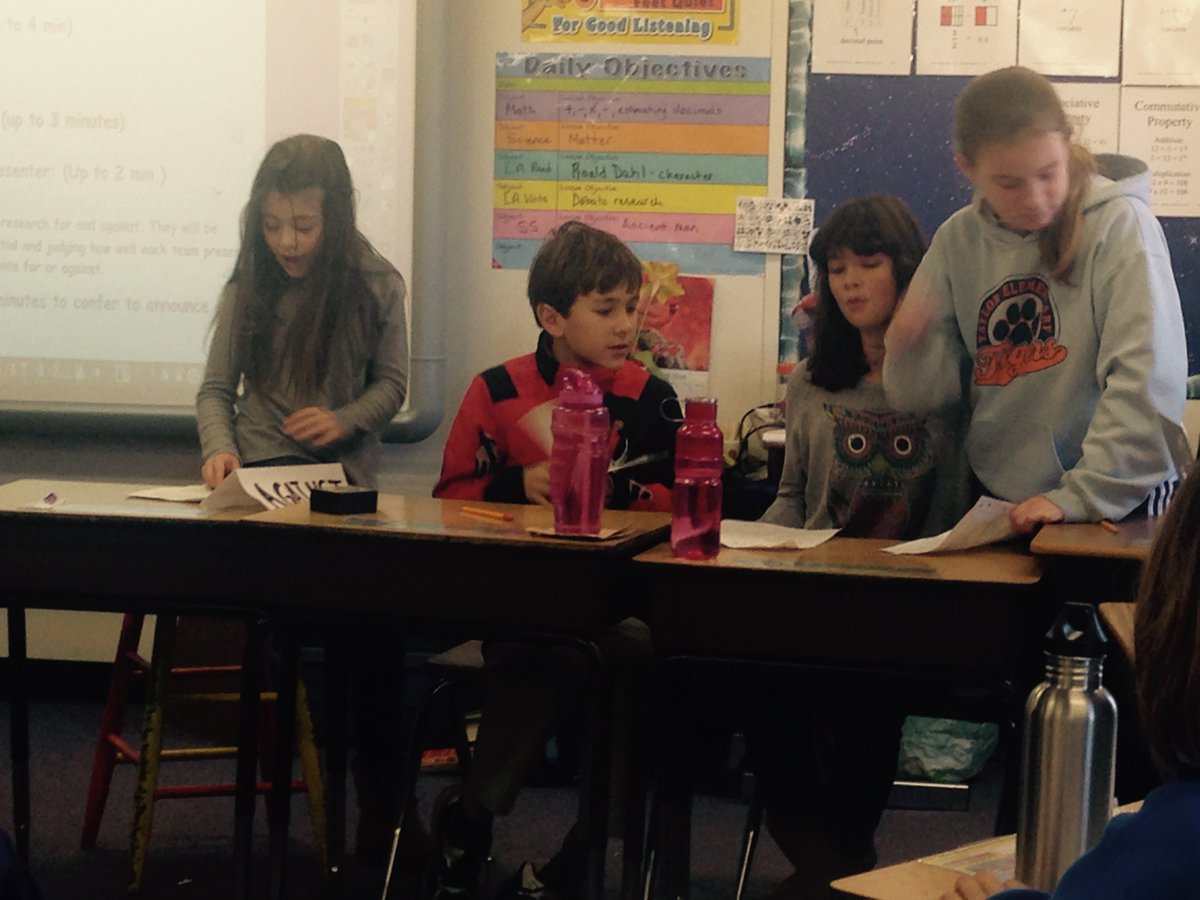 <a target='_blank' href='http://twitter.com/TaylorThinkers'>@TaylorThinkers</a> <a target='_blank' href='http://twitter.com/APSGifted'>@APSGifted</a> Fifth grade debate on corporal punishment. <a target='_blank' href='https://t.co/eg30pSgTmF'>https://t.co/eg30pSgTmF</a>