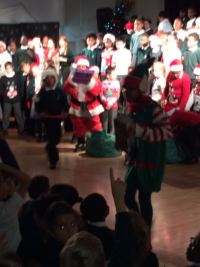 #Santa had some helpful elves to give out presents at Rectory Gardens...