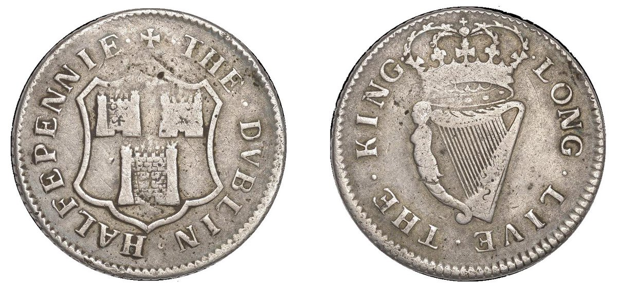 The Old Currency Exchange On Twitter Digidublin Irish Coin Daily Dublin Corporation Halfpenny Silver Https T Co Oxpomnrtmi
