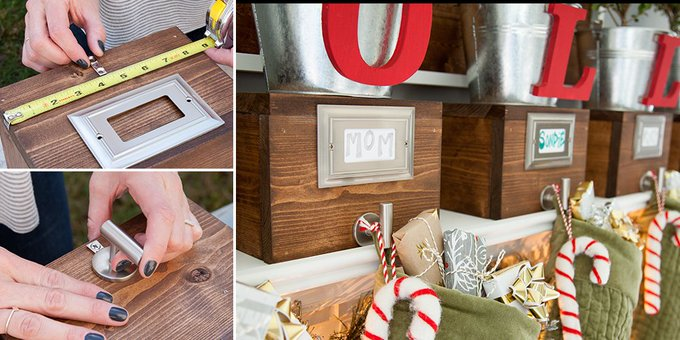 DIY Box Stocking Holders – The Home Depot Blog