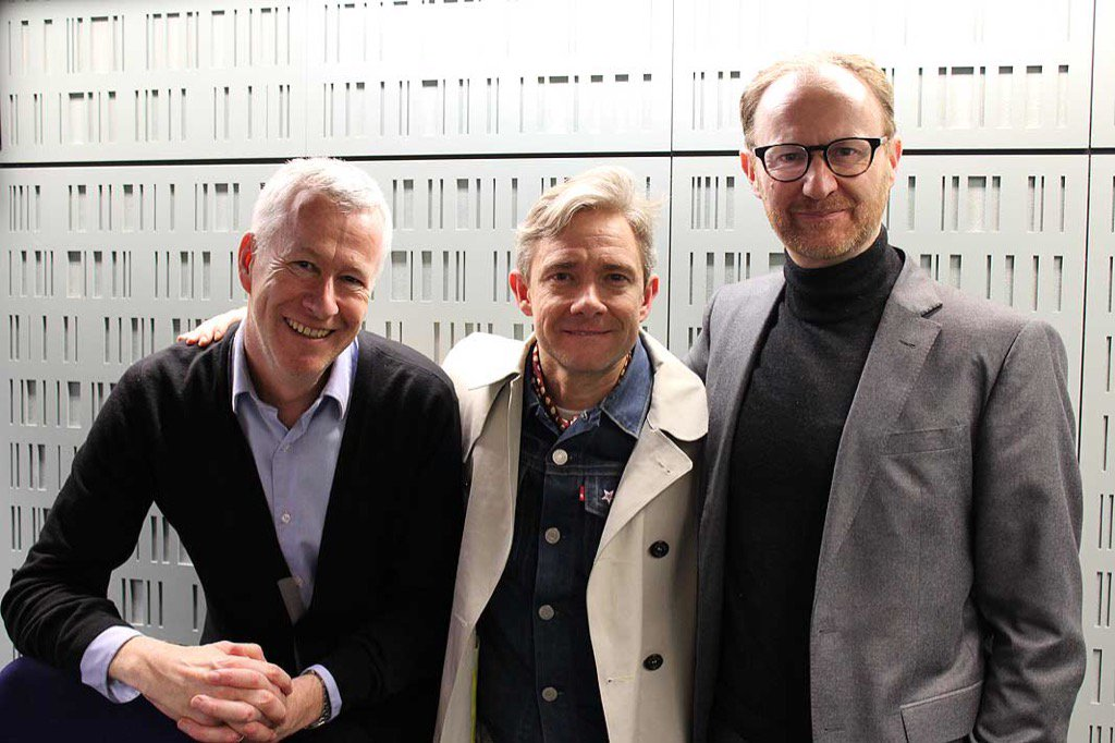Talkin' @Sherlock221B with Martin Freeman & @Markgatiss - @BBCFrontRow @BBCRadio4 7.15pm https://t.co/a95z7nLHkf