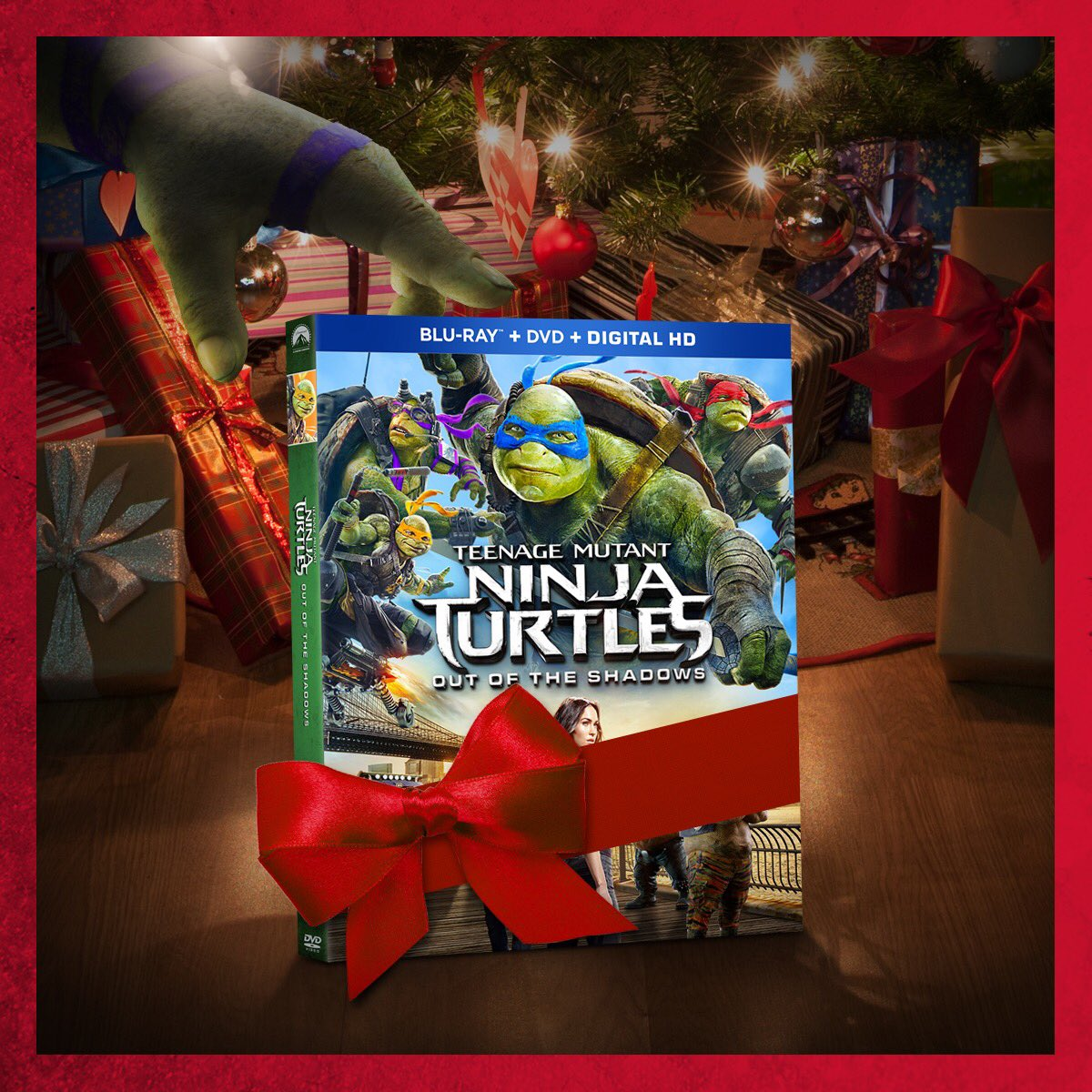 Give your favorite ninja the most tubular gift! Buy TMNT Out of the Shadows on Blu-ray™ now! j.mp/TMNTBlu-ray
