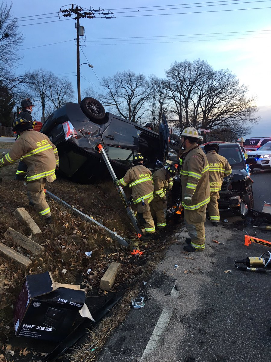 """arlington fire on twitter: """"#followup: photos from the accident with"""
