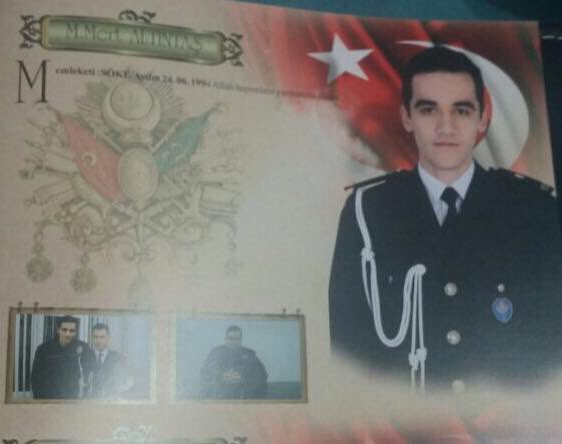 Altintas had been a riot squad police officer in Ankara, where the attack took place. Pic: Twitter.