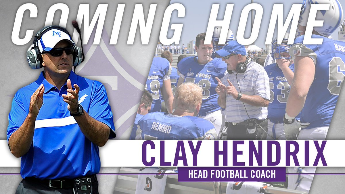 Welcome back to @PaladinFootball, Clay Hendrix (@chendrix63)!   DETAILS: https://t.co/jUNCwfJWFr https://t.co/1PbBW3e02G