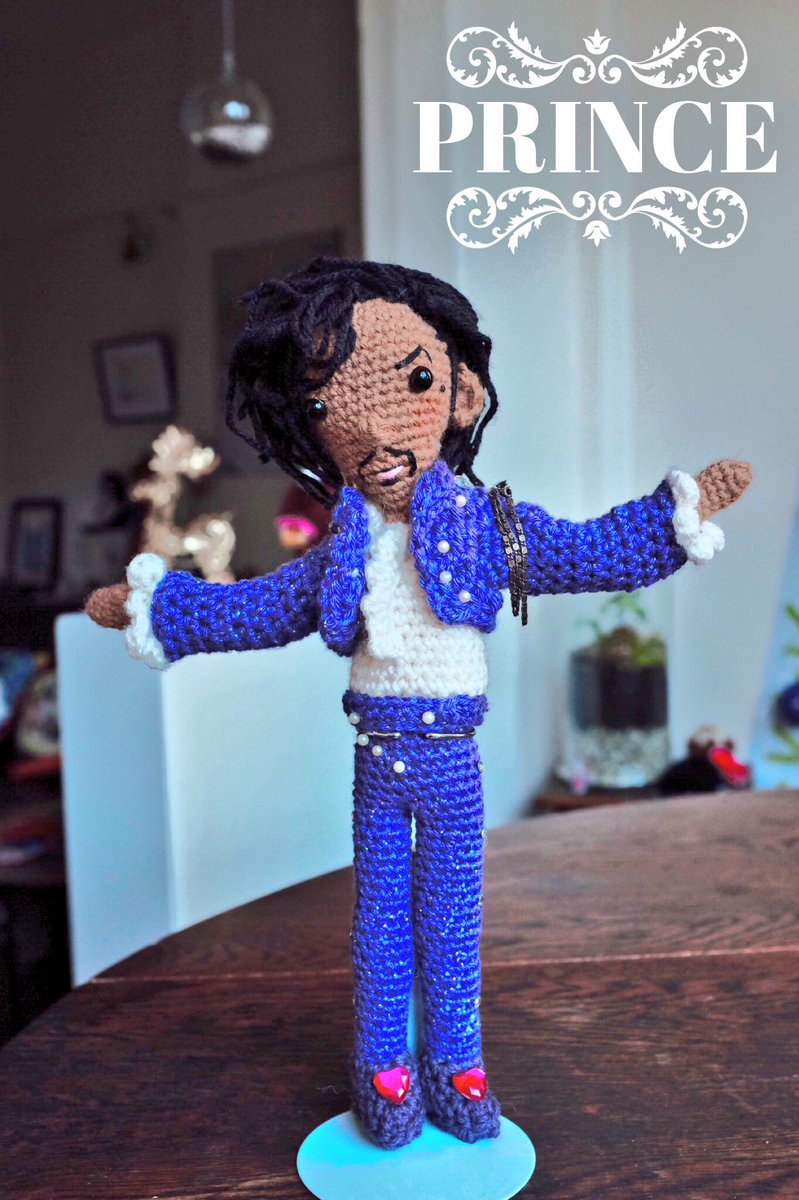 In case you missed my #Prince spam. I #crocheted the #purple one #amigurumi #tribute