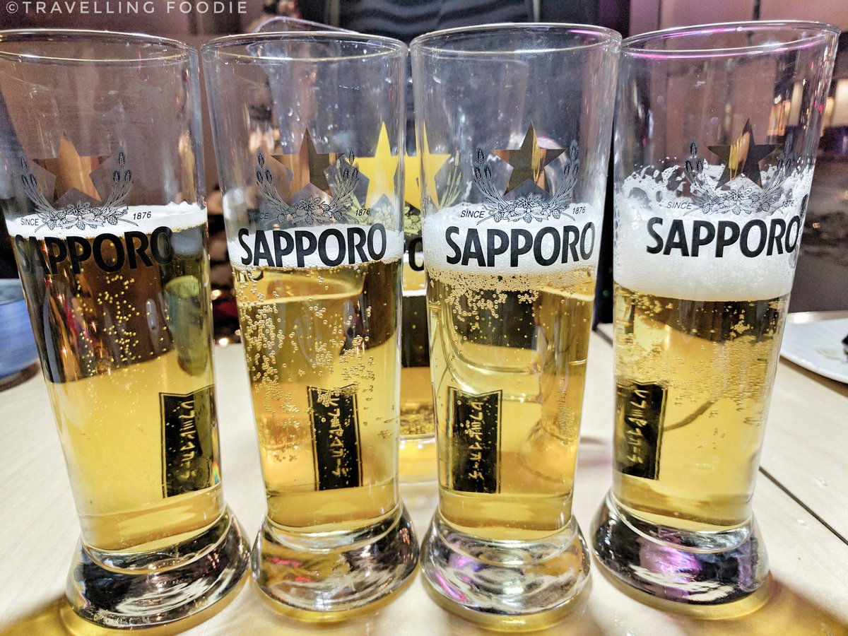 Travelling Foodie Drinks Sapporo Beer at Ebisu On Queen Toronto