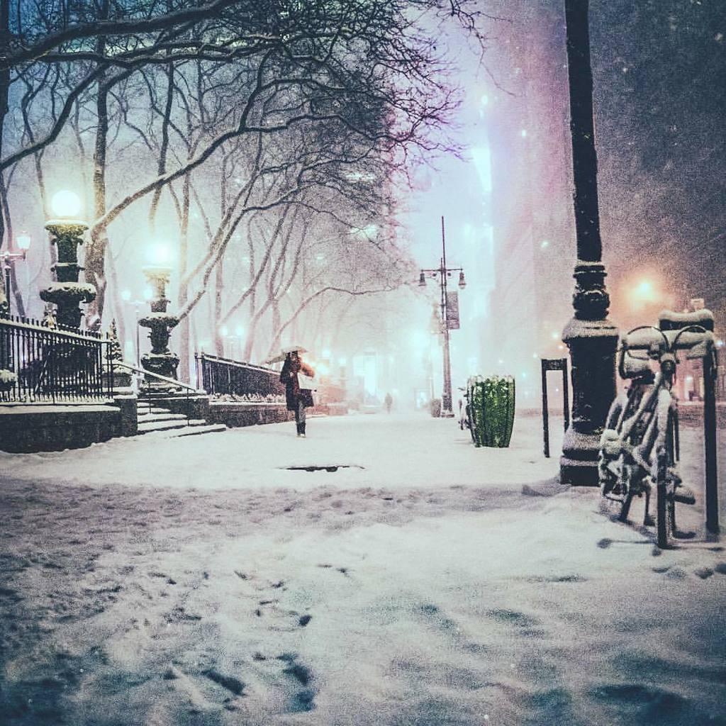 New York City, snow near Bryant Park by Vivienne Gucwa @travelinglens ☃️☃️☃️ https://t.co/mCiEKGOYoD https://t.co/xpkuCFDYH4