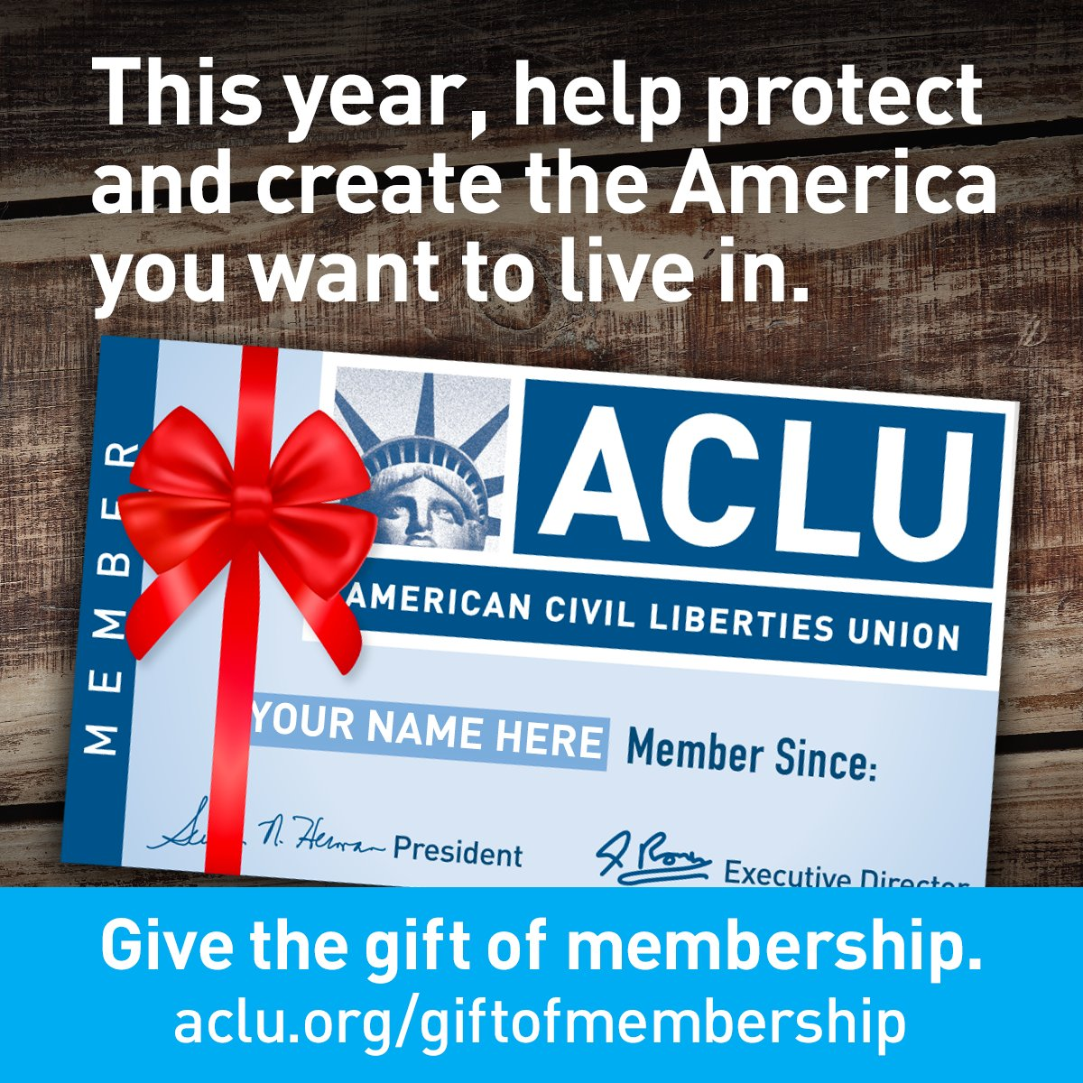 "ACLU on Twitter: ""Who are you giving an ACLU membership to this year? https://t.co/4fAbSy6oiX… """