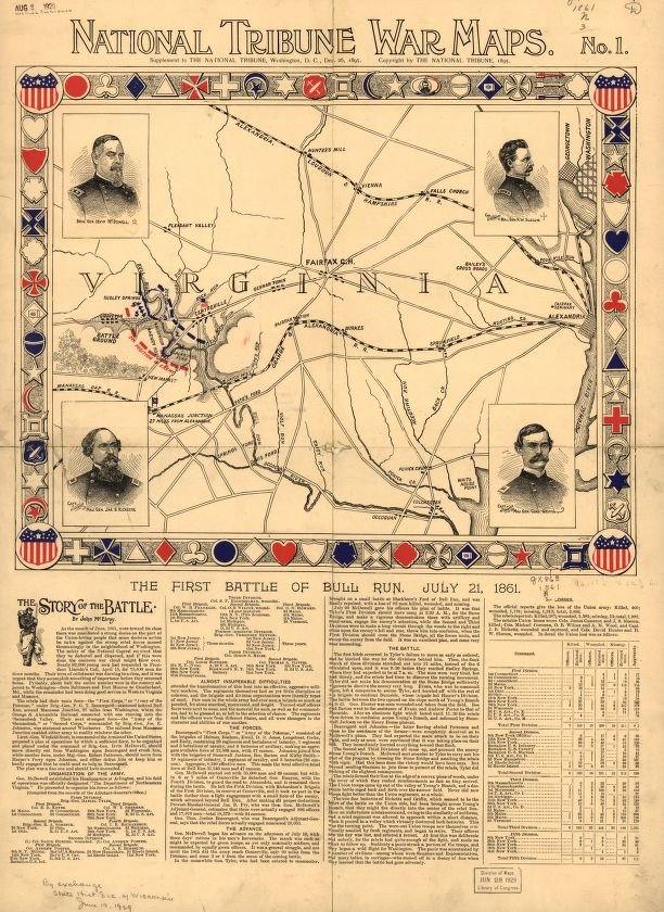 Check out this National Tribune #WarMaps article about the first Battle of Bull run published #OTD in 1895!  https://t.co/YOscGcsgOC https://t.co/NH8NoEiAxf