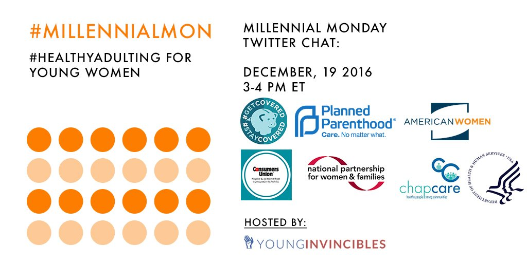 Welcome to #MillennialMon! Today's topic: #HealthyAdulting for Young Women https://t.co/iUdinRNRf2