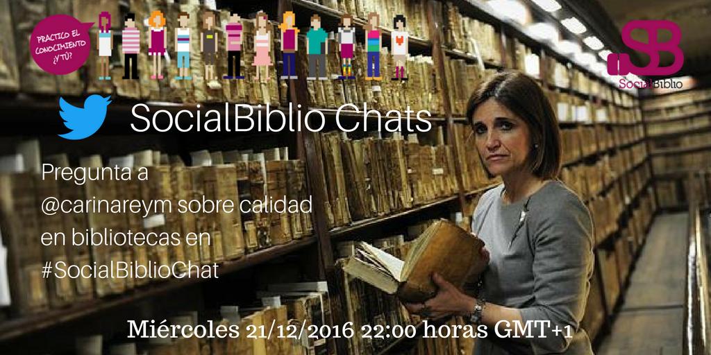 Thumbnail for SocialBiblioChat Calidad en bibliotecas 21/12/2016