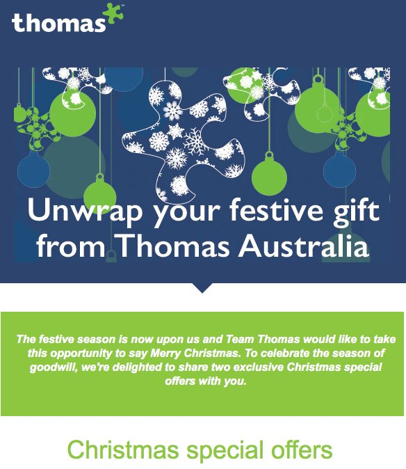 have you seen our december christmas specials email supportteamthomasintcomau to find out more christmas thomas specials xmaspictwittercom - How Do You Say Merry Christmas In Australia