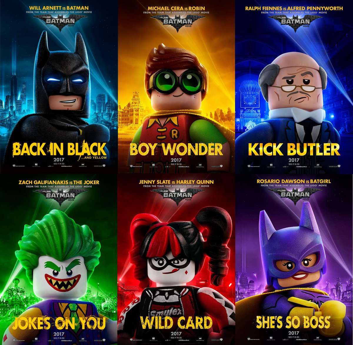 The Lego Batman Movie Character Posters